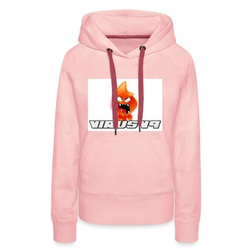 Virusv9 Weiss - Frauen Premium Hoodie
