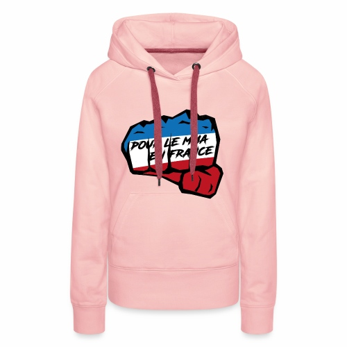 Fightness fist mma - Sweat-shirt à capuche Premium pour femmes