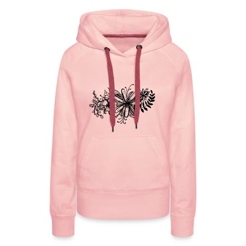 Black Flower Artwork - Women's Premium Hoodie