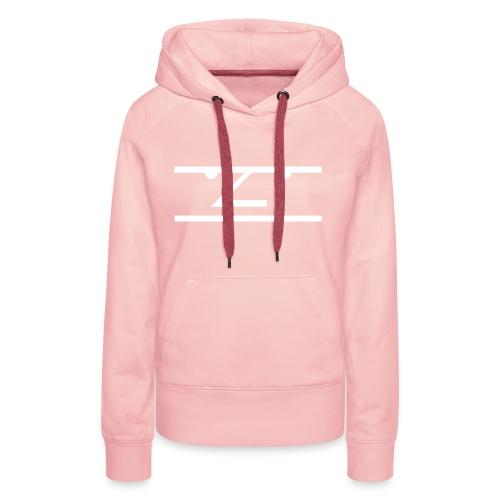 The Average Men Hoodie, White Logo - Vrouwen Premium hoodie