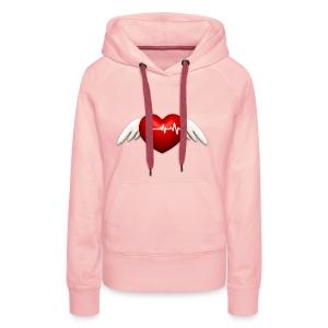 Lebensretter Herz mit Flügel - Frauen Premium Hoodie