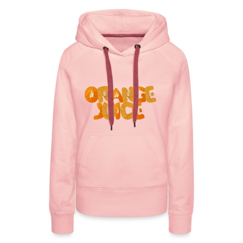 orange juice - Sweat-shirt à capuche Premium pour femmes