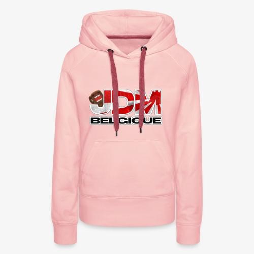 JDM BELGIQUE - Sweat-shirt à capuche Premium pour femmes