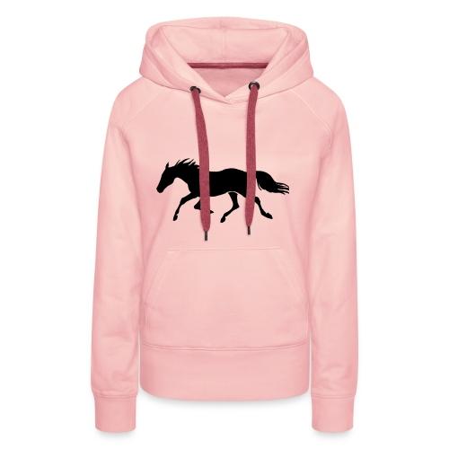 Cavallo - Felpa con cappuccio premium da donna