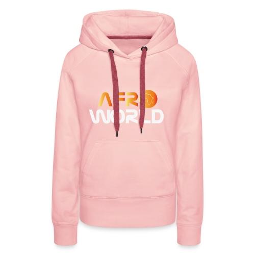afro world - Sweat-shirt à capuche Premium pour femmes