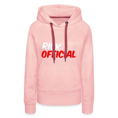 Rickofficial 2d logo trui - Vrouwen Premium hoodie