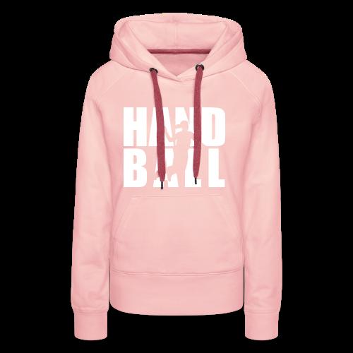 Handball Block Frau - Frauen Premium Hoodie
