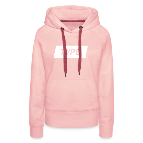 TAPE SHAPE WHITE - Vrouwen Premium hoodie