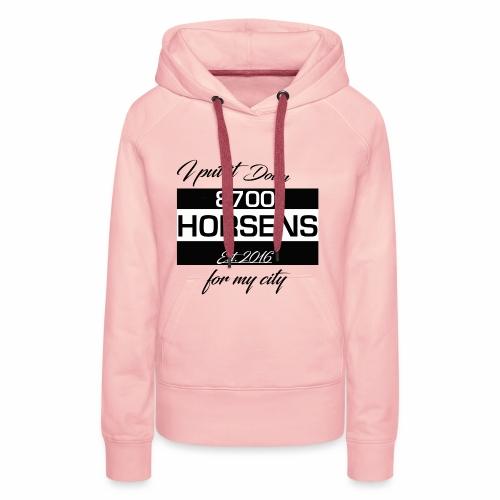 I Put it Down for my City - 8700 Horsens - Hvid - Dame Premium hættetrøje