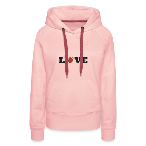 Love foot us - Sweat-shirt à capuche Premium pour femmes