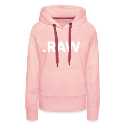I shoot RAW - Felpa con cappuccio premium da donna