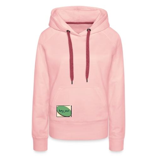 Key_oui - Sweat-shirt à capuche Premium pour femmes