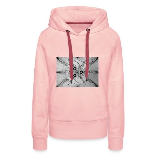 MandalArt Design star circles - Vrouwen Premium hoodie