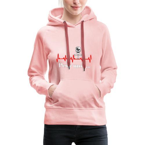 Crâne et croix d'os peur moi rythme cardiaque RFS - Sweat-shirt à capuche Premium pour femmes