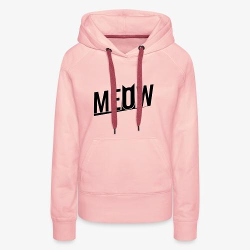 Meow black - Bluza damska Premium z kapturem