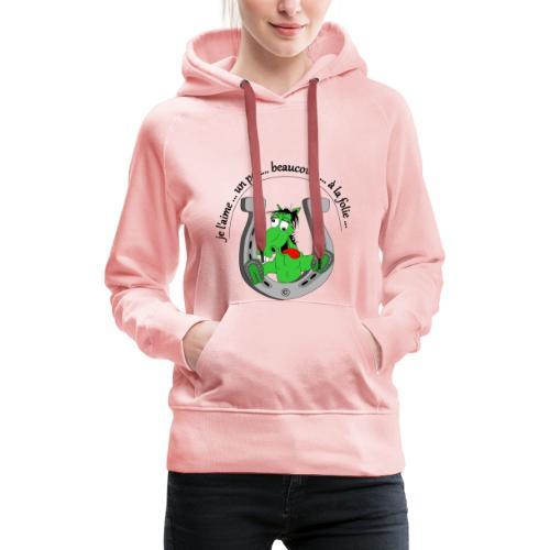 Cheval à la folie FC - Sweat-shirt à capuche Premium pour femmes