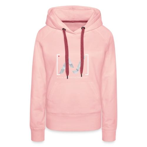 logoalpha blanc - Sweat-shirt à capuche Premium pour femmes