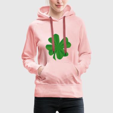 Trèfle à quatre feuilles - Sweat-shirt à capuche Premium pour femmes