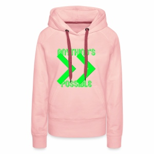 Future Clothing - Anything's Possible (Green) - Women's Premium Hoodie