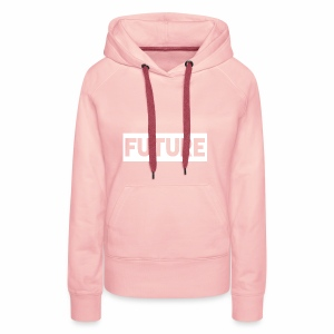 Future Clothing - Text Rectangle (White) - Women's Premium Hoodie