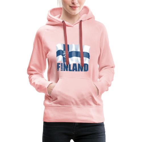 01-SUOMI LEIJONALIPPU - FINLAND LION FLAG - Naisten premium-huppari