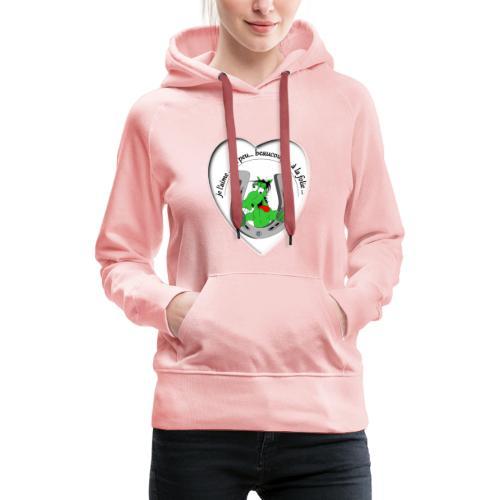 cheval comic FS - Sweat-shirt à capuche Premium pour femmes