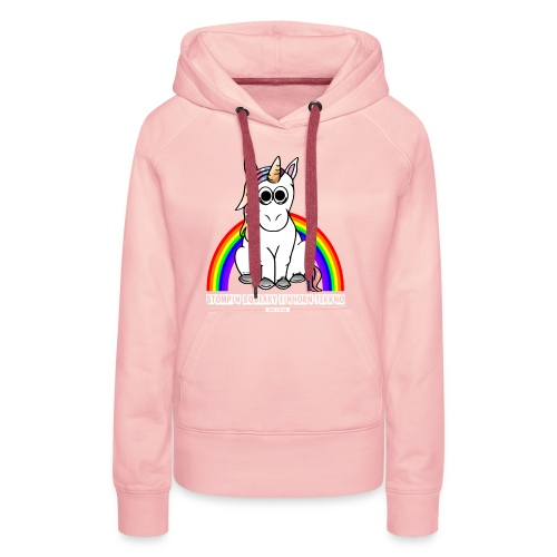 Einhorn Tekkno Regenbogen - Frauen Premium Hoodie
