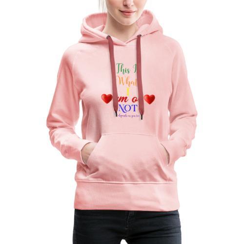 amor deux coeurs couleur - Sweat-shirt à capuche Premium pour femmes