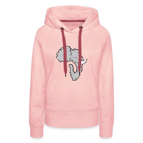 Elefante Perfil - Sudadera con capucha premium para mujer