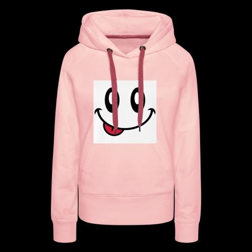 augen-smiley-zunge-t-shirts-maenner-premium-t-shir - Frauen Premium Hoodie