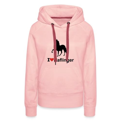 I Love Haflinger - Frauen Premium Hoodie