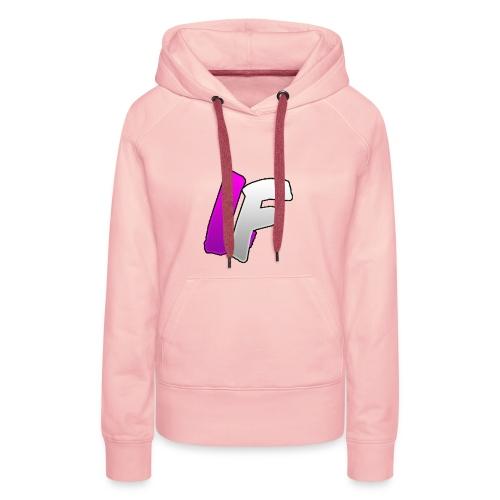 youtube logo - Sweat-shirt à capuche Premium pour femmes