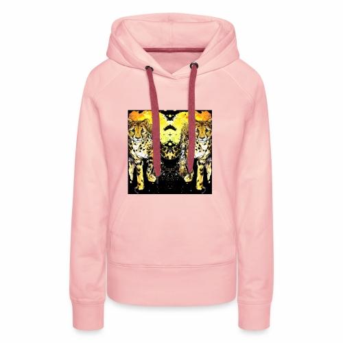 Karo Style Tiger - Frauen Premium Hoodie