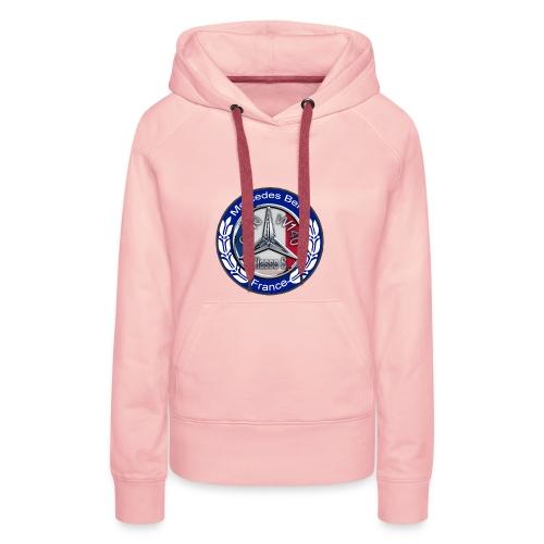 Logo Officiel Assos : MB Classe S W140 C140 France - Sweat-shirt à capuche Premium pour femmes