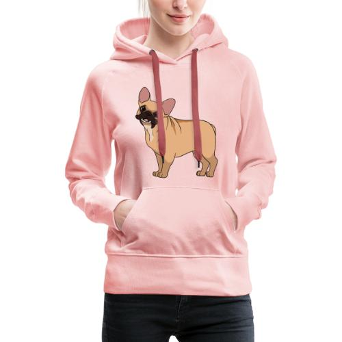 Friendly French Bulldog - Women's Premium Hoodie