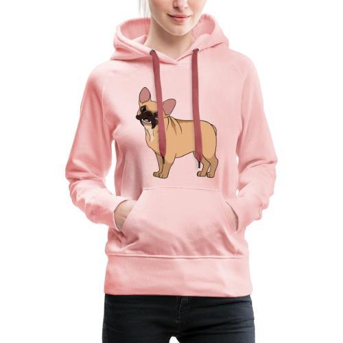 Friendly French Bulldog - Women's Premium Hoodie