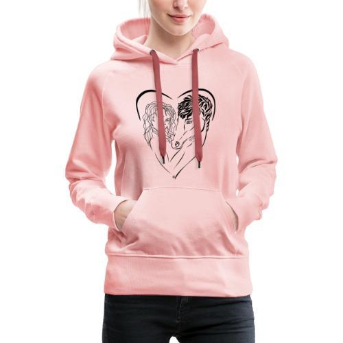 Cheval cavalière passion ❤ FC - Sweat-shirt à capuche Premium pour femmes