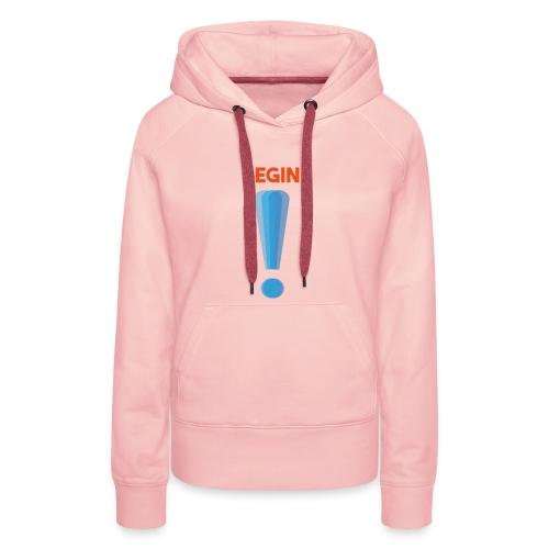 logo point exclamation - Sweat-shirt à capuche Premium pour femmes
