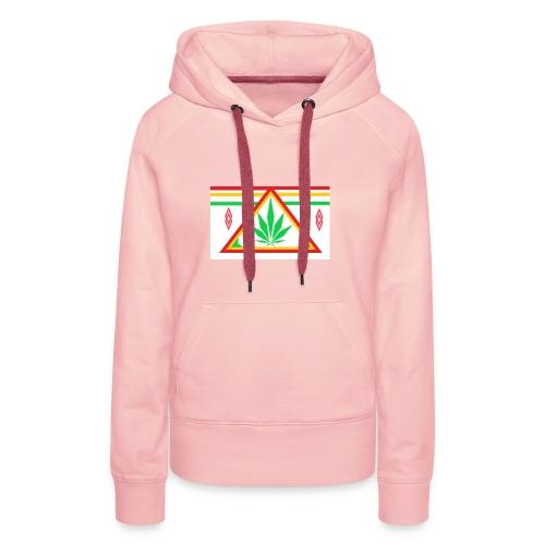 ganja power - Sweat-shirt à capuche Premium pour femmes