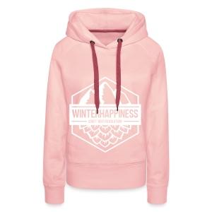 Winterhappiness Logo - Premium hettegenser for kvinner
