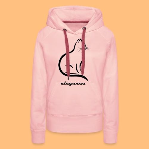 elegance Katze - Frauen Premium Hoodie