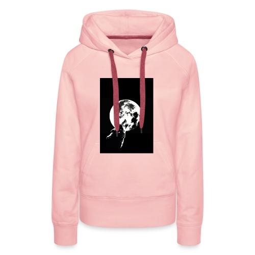 El Lobo y la Luna - Sudadera con capucha premium para mujer