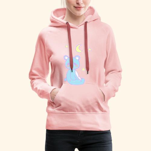 Sleepy bear - Sweat-shirt à capuche Premium pour femmes