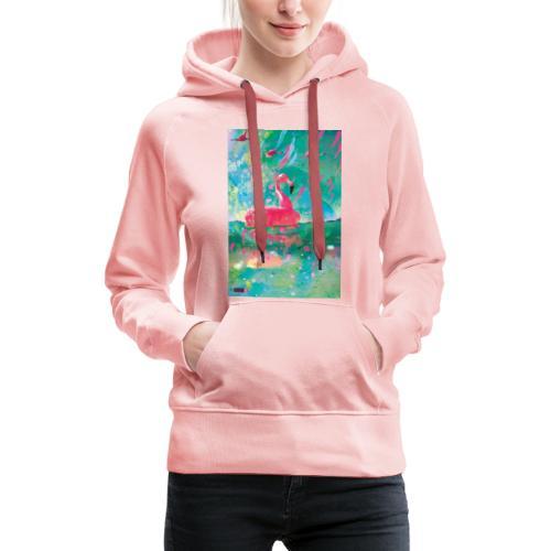 05 Flamingo Summer Dream Poster Margarita Pop Art - Frauen Premium Hoodie