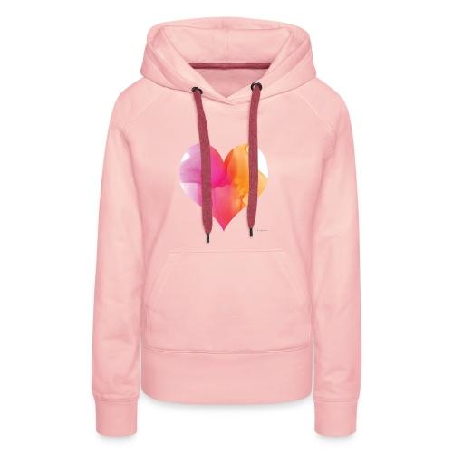 Love Heart Design - Women's Premium Hoodie