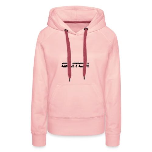 LOGO GLITCH - Felpa con cappuccio premium da donna