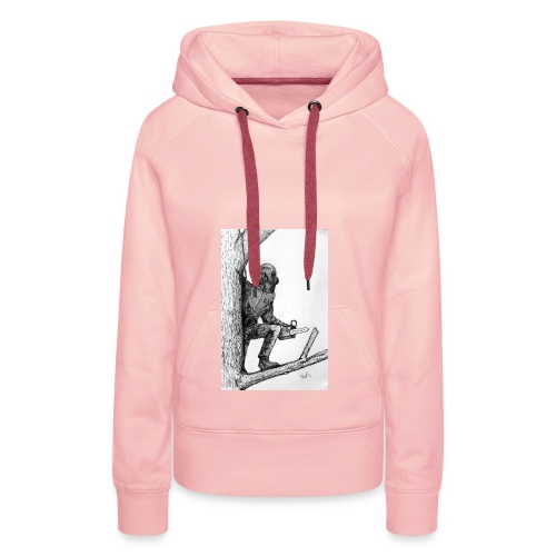 Arborist Tree Surgeon Using a Chainsaw - Women's Premium Hoodie
