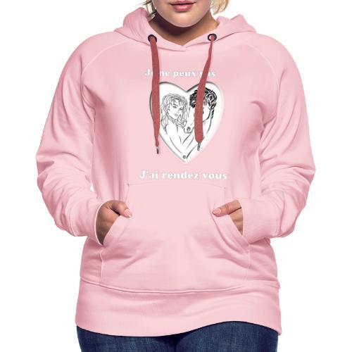 cheval j'peux pas cheval passion cœur tendre FS - Sweat-shirt à capuche Premium pour femmes