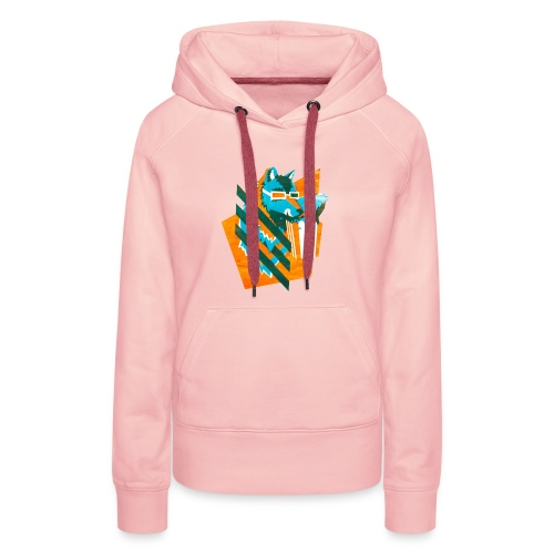 popcornwolf_logo_merch-0 - Vrouwen Premium hoodie