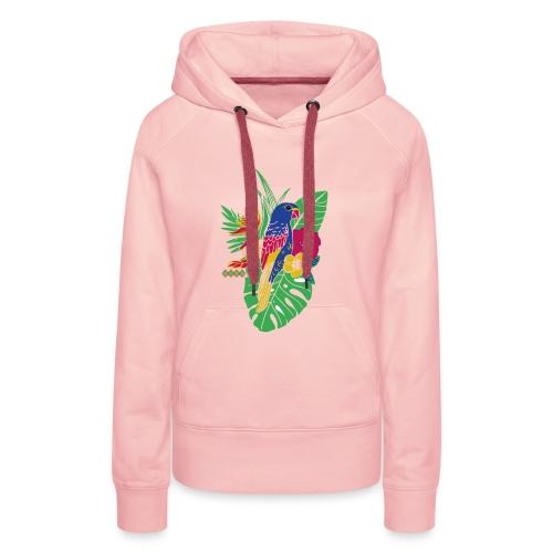 gaya flower parrot - Frauen Premium Hoodie